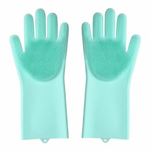 Hand Gloves with Scrubber for utensils