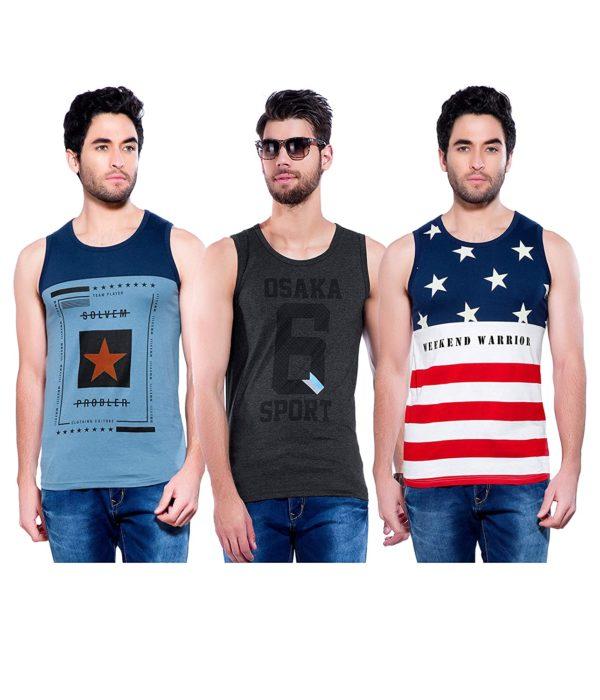 Printed Men's Sleeveless Vest