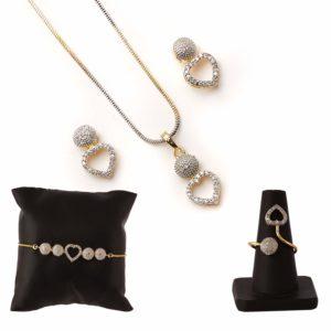American Diamond Jewellery Combo of Necklace Pendant