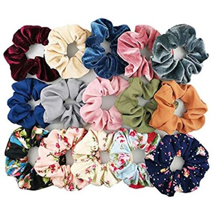 Hair Bands for Women -15 Pieces | Scrunchies for Womens