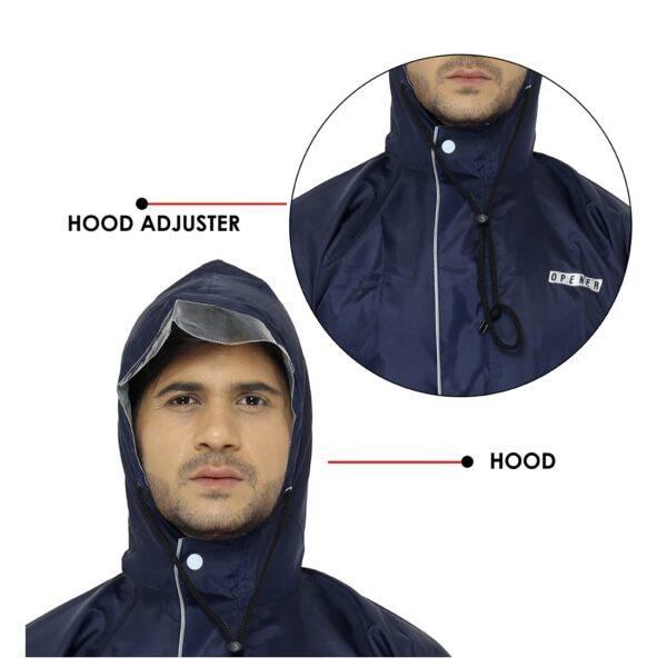 Hooded Rain coat with Adjuster
